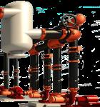 Imagen de la instalación de un sistema victaulic